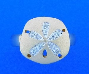 14k denny wong sand dollar ring