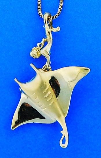 Steven douglas manta ray mermaid pendant 14k yellow gold island on sale aloadofball Choice Image