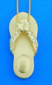 14k diamond sandal pendant