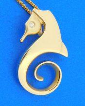 14k steven douglas seahorse pendant