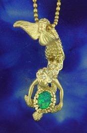 14k steven douglas olivia 2 mermaid pendant