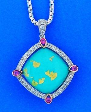 denny wong treasur island,pink & white saphires,18k,silver