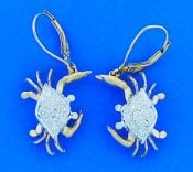 14k denny wong diamond crab dangle earrings