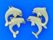 denny wong dancing dolphin earrings 14k
