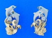 denny wong dancing dolphin earrings