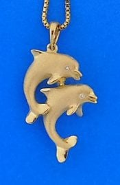 denny wong dancing dolphin pendant 14k
