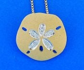 14k denny wong sand dollar pendant