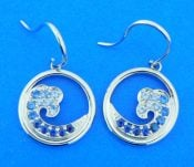 14k & sapphire wave earrings