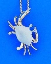Denny Wong Crab Pendant,14k White Gold diamond, 2-Tone