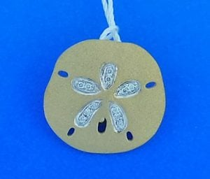 Denny Wong Sand Dollar Enhancer/Slide Pendant,14k Yellow Gold