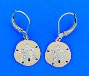 Denny Wong Sand Dollar Lever Back Earrings,14k Yellow Gold