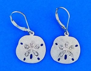 Denny Wong Sand Dollar Lever Back Earrings,Precious Silver