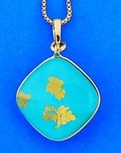 Denny Wong Turquoise treasure island pendant,18k