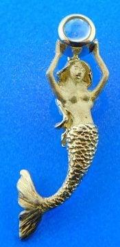 Denny Wong Mermaid Moonstone Pendant,14k