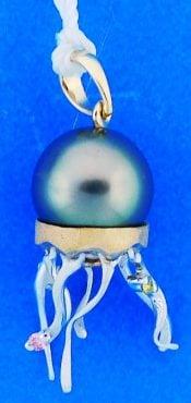 Denny Wong Jellyfish Pendant.14k