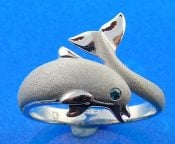 Denny Wong Dolphin ring,14k white gold