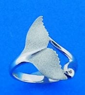 Denny Wong whale tail ring,precious silver
