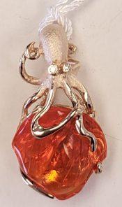 denny wong opal octopus pendant 14k
