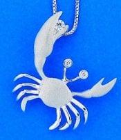denny wong white gold crab pendant