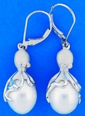 OCTOPUS PEARL EARRINGS,DENNY WONG