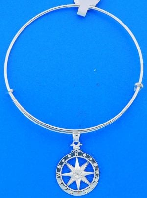 COMPASS ROSE,BANGLE,STERLING