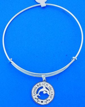 LBI.DOLPHIN,BANGLE,STERLING