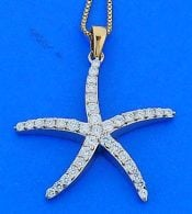 STARFISH,DIAMOND,PENDANT