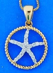STARFISH,PENDANT,DIAMONDS
