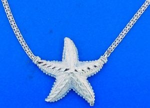 STARFISH,NECKLACE,STERLING