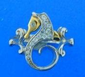 seahorse silver & gold ring steven douglas