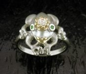 FROG RING,STEVEN DOUGLAS,STERLING