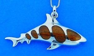 SHARK,KOA,PENDANT,STERLING