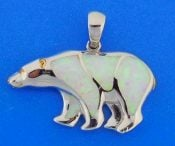 POLAR BEAR,PENDANT,STERLING