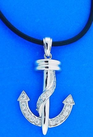 ANCHOR,NECKLACE,STERLING