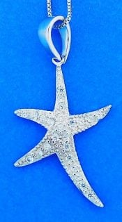 STARFISH,PENDANT,STERLING