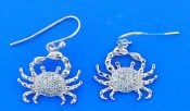 CRAB,STERLING,EARRING