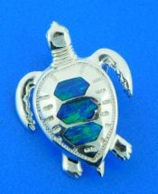 sterling silver sea turtle slide