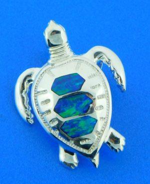 sterling silver sea turtle slide