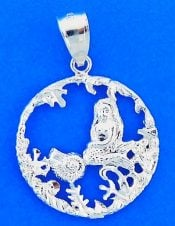 MERMAID,SEALIFE,PENDANT,STERLING