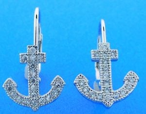 ANCHOR,EARRING,STERLING