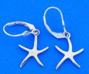 STARFISH,EARRING LEVER,STERLING