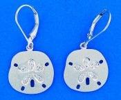 14k denny wong sand dollar earrings white gold
