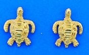 SEA TURTLE,POST,EARRING,YELLOW
