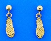 FLIP FLOP,DANGLE,EARRING,14K