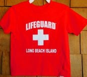 Authentic Lifeguard Toddler Tee Shirt With Long Beach Island Name Drop Available In 2T,3T,& 4T