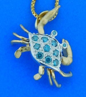 denny wong blue crab 14k