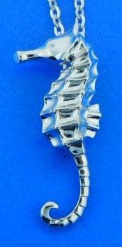 Alamea Seahorse Dangle Cz Earrings, Sterling Silver | Island Sun