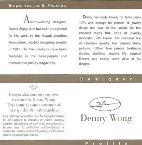 Denny Wong Whale Tail Pendant, 14k Yellow Gold