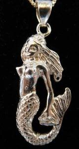 Mermaid Pendant Sterling Silver