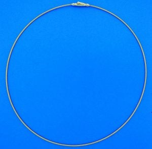 "Cable Necklace 1.1mm 18"", 14k Yellow Gold"